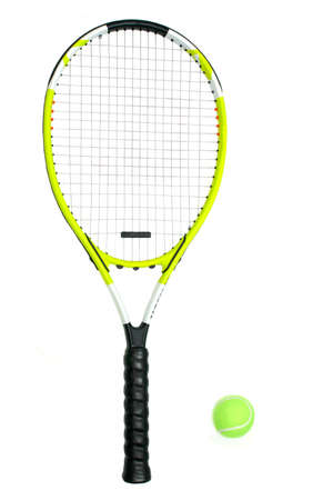 tennis racket: Raqueta de tenis y pelota