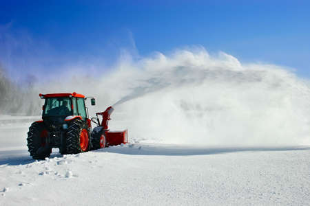 blower: Snow Blower Stock Photo