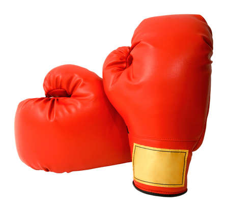 Boxing Gloves Isolated Banco de Imagens