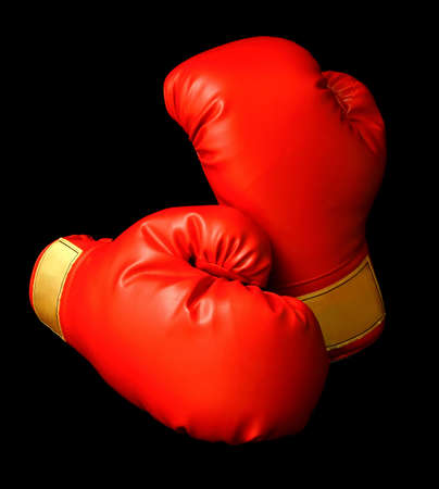 Red Boxing Gloves Standard-Bild