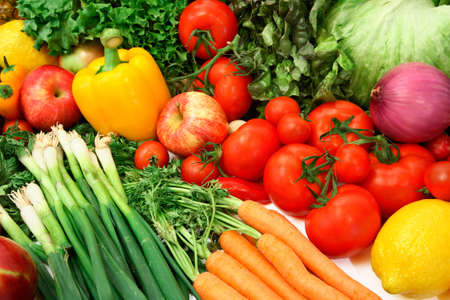 Colorful Vegetables and Fruits Archivio Fotografico