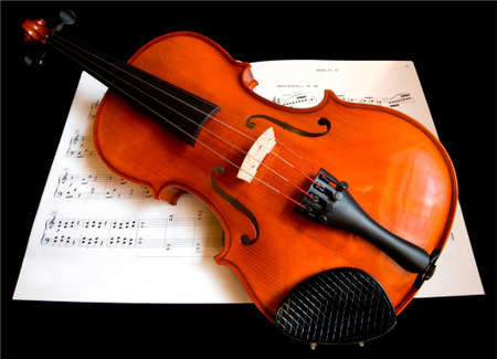 Violin on a Music Sheet