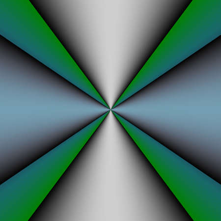 Metallic cross on a green and blue background