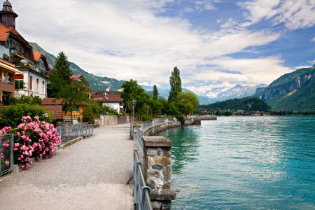 TWalking by the Lake in Brienz, Berne, Switzerland