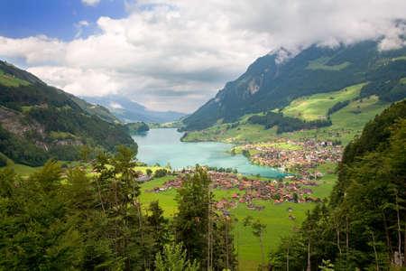 フリブール、スイスのカントンで美しい風景 写真素材