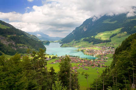 Beautiful landscape in the canton of Fribourg, Switzerland  Stock Photo