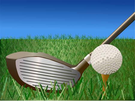 ゴルフ - ベクトル イラスト  イラスト・ベクター素材