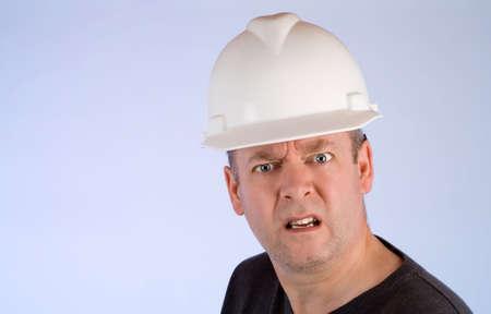 Grumpy Construction Worker Imagens - 4162717