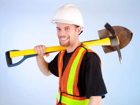 Happy Construction Worker photo