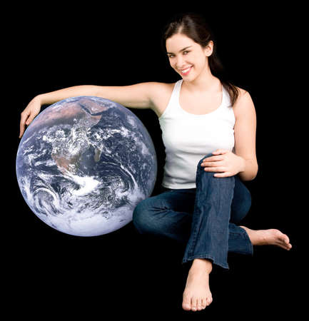 spacial: Help Earth Be your Friend Stock Photo
