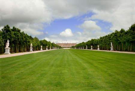 without people: Versailles Landscape, France, Without People