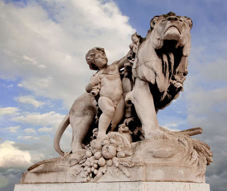 iii: Paris, France, Alexander III Bridge statue