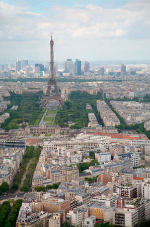 elevated view: Elevated View of Paris, France Stock Photo