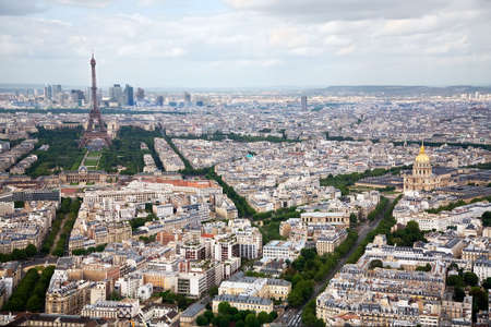 superstructure: Elevated View of Paris, France Stock Photo