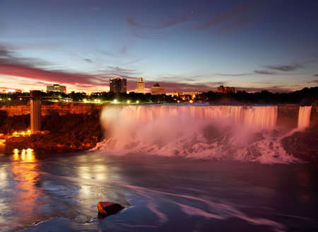 Niagara Falls USA Just Before Sunrise photo