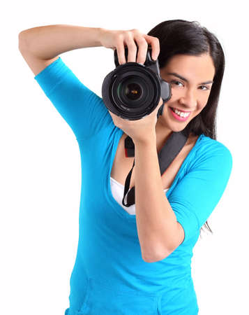 Female Photographer Shooting You photo