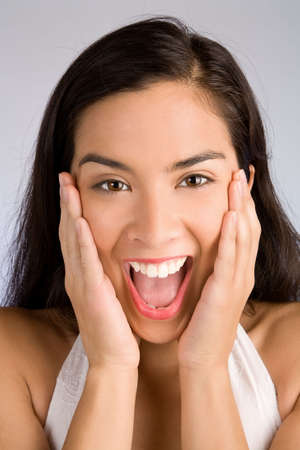 Expression of a Woman Winning Something Big Stock Photo - 6633525
