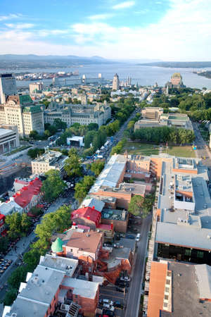Elevated View of Quebec City, Canada photo