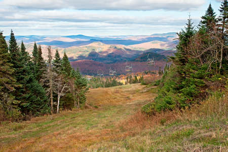 Top of Mont-Tremblant, Quebec, Canada During Fall Season photo