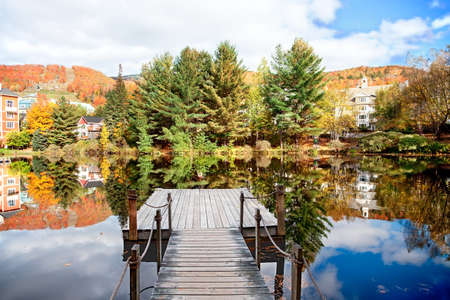 モン トランブランには、ケベック州、カナダの秋のシーズン