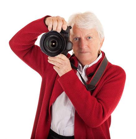 Senior Female Photographer Stock Photo - 8116312