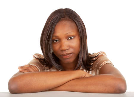 Beautiful and Seus African American Lady Stock Photo - 9691656