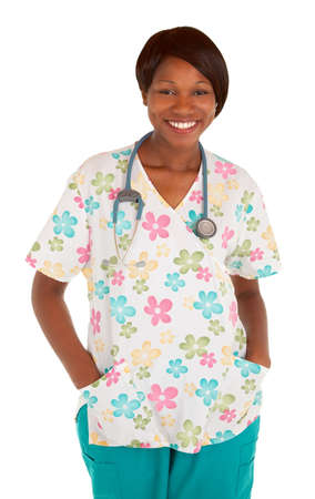 Smiling African American Nurse Posing photo