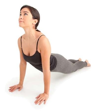 운동하는 젊은 여자