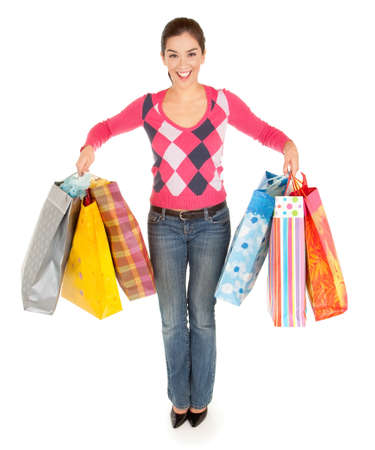purchaser: Woman on a Shopping Spree Stock Photo