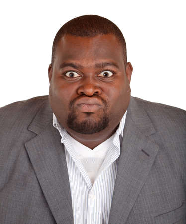 exasperation: African American Businessman Angry About Something