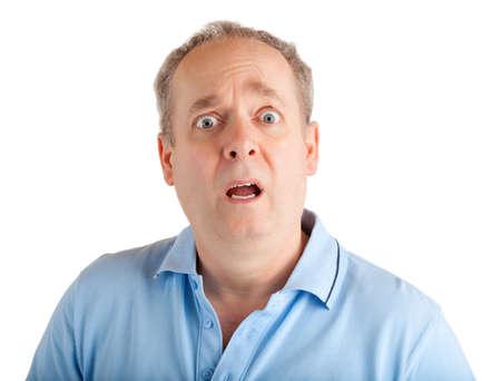 男の驚きの顔の表現 写真素材