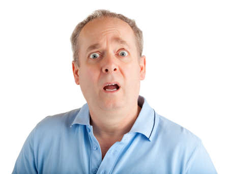 overwhelm: Man Surprised face expression