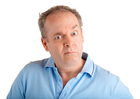 infuriate: Man Displeased face expression