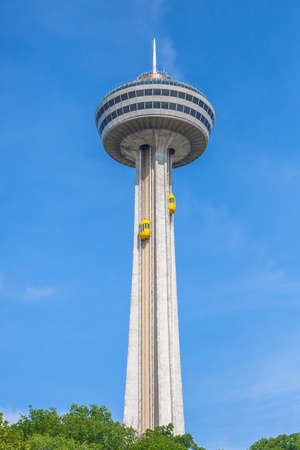 Niagara Falls, Ontario, Canada - July 5, 2015: View of the Skylon Tower.