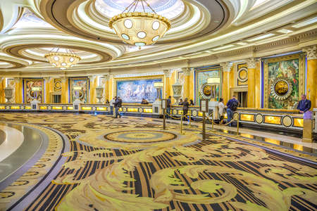 Caesars Palace, Las Vegas - January 13, 2016: Caesars Palace opened in 1966. It has 3,960 rooms with a total of 166,000 sq ft in gaming space. It has a 4,296 seat theater, The Colosseum, with a 22,450 square feet stage built for Celine Dion's show. Editorial