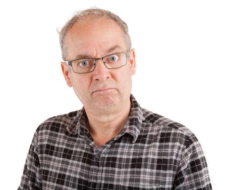 Man looking serious
