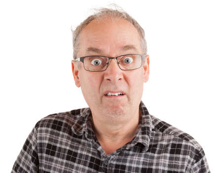Man with a dumbfounded goofy look Stock Photo - 91361050