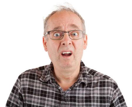 Man with dumbstruck goofy look Stock Photo - 91381472