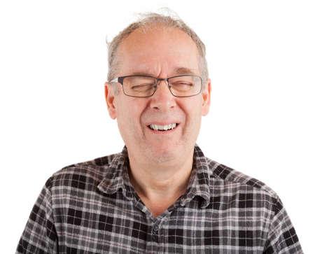 Man laughing hard Standard-Bild