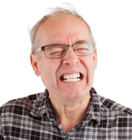 Man expressing pain