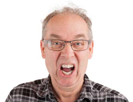 Man is shouting about something Standard-Bild