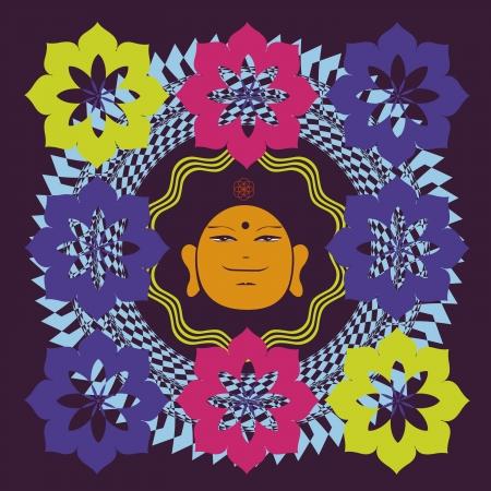 bodhisattva: Buddah face print