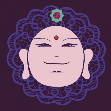 Buddah face print