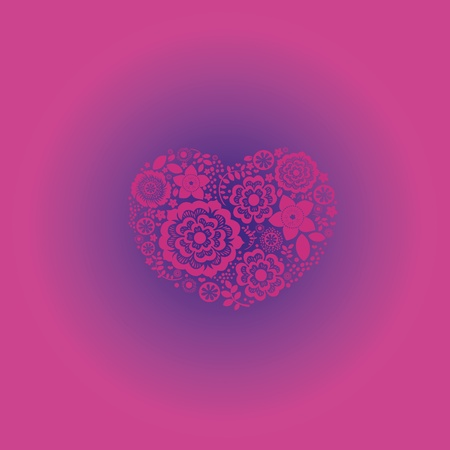 Ornamental floral heart with many quality details Vector