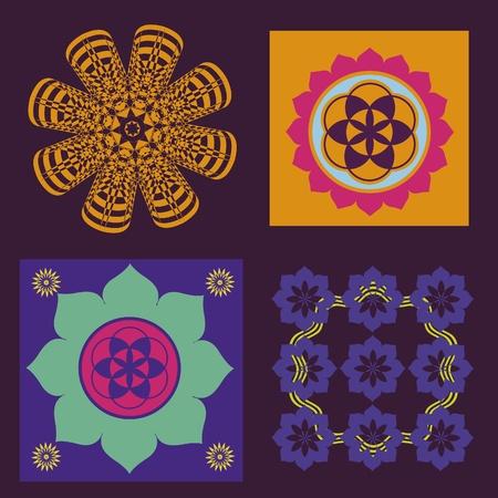 Floral spring color floral mandalas Stock Vector - 18390797