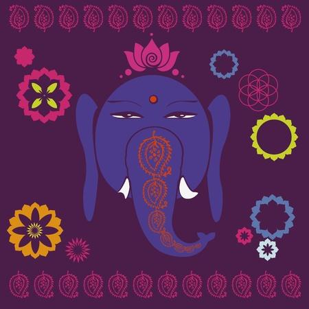 Ganesh holiday print Stock Vector - 18390794
