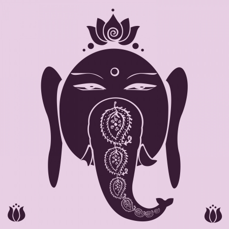 Ganesh holiday print Vector