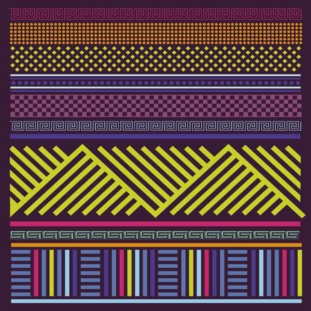 folk music: Ornamental spring color line illustration print