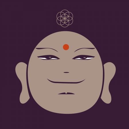 traits: Buddah face stump Illustration