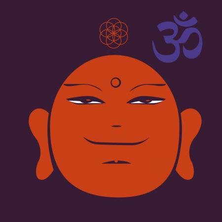 aciculum: Buddah face print